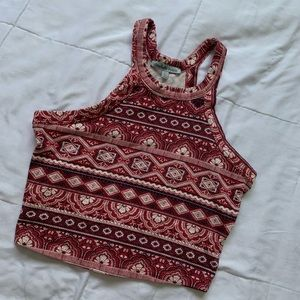 Charlotte Russe patterned crop top